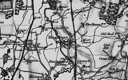 Old map of Kingsbury in 1899