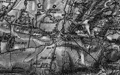 Old map of Kingsclere in 1895