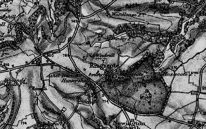 Old map of Ashel Barn in 1897