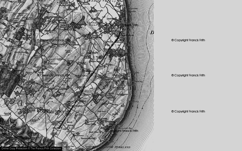 Old Map of Kingsdown, 1895 in 1895