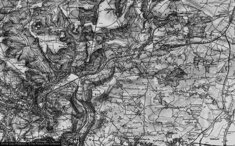 Old Map of Kingsdown, 1898 in 1898