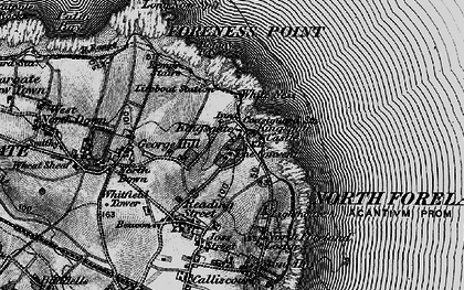 Old map of White Ness in 1895