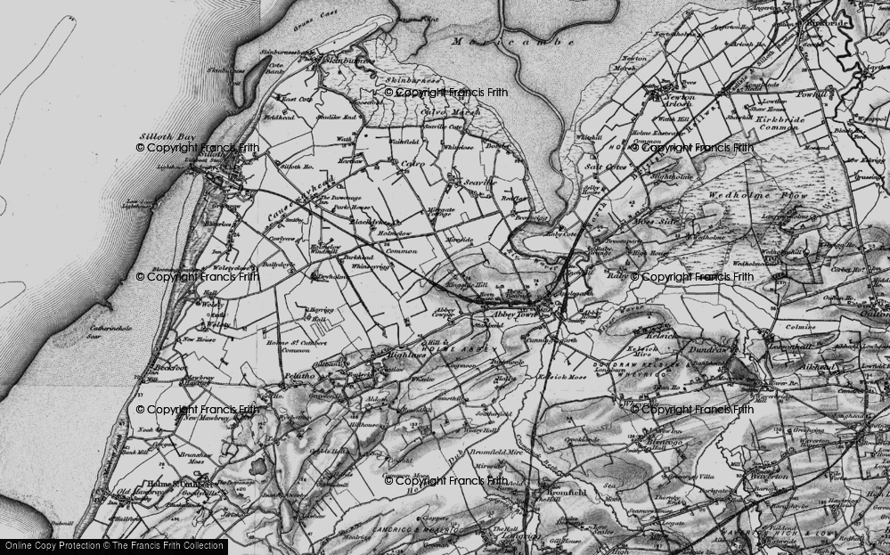 Old Map of Historic Map covering Abbey Cowper in 1897