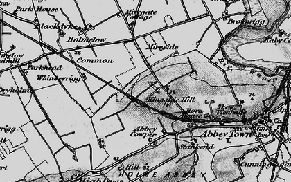 Old map of Abbey Cowper in 1897