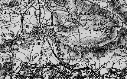 Old map of Kingskerswell in 1898