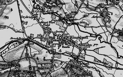 Old map of Kingsland in 1899