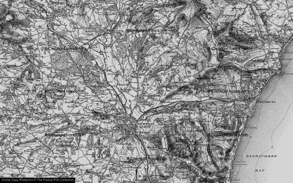 Old Map of Historic Map covering Lindridge Hill in 1898