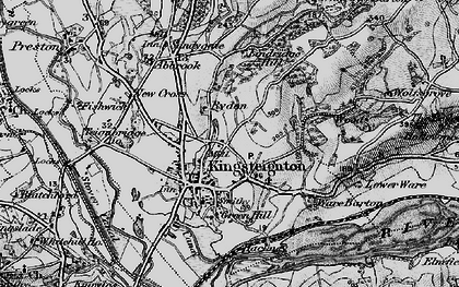 Old map of Kingsteignton in 1898