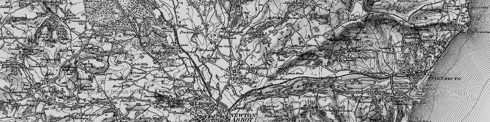 Old map of Lindridge Hill in 1898
