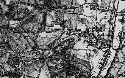 Old map of Baker's Brake in 1898