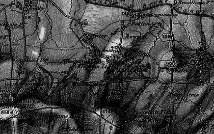 Old map of Kingston Lisle in 1895