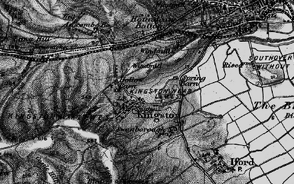 Old map of Kingston near Lewes in 1895