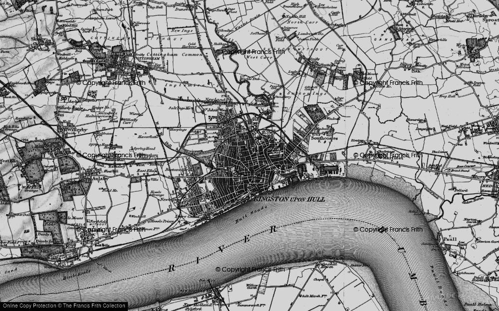 Map of Kingston upon Hull 1895 Francis Frith