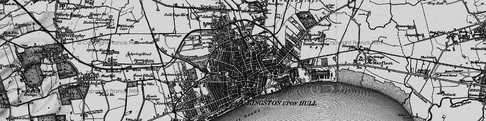 Old map of Kingston upon Hull in 1895