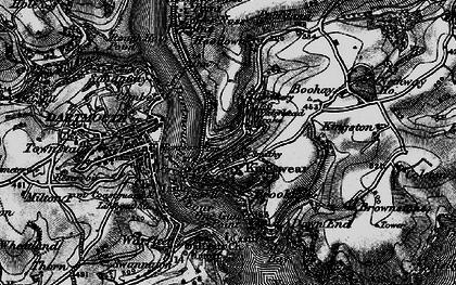 Old map of Kingswear in 1897