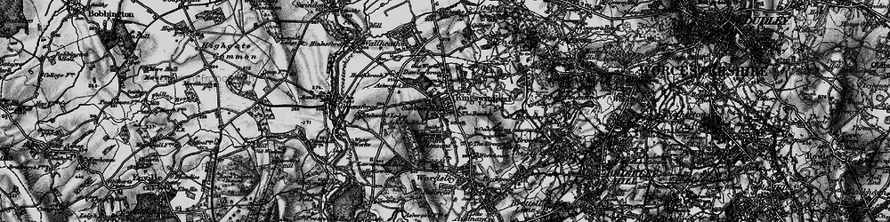 Old map of Kingswinford in 1899