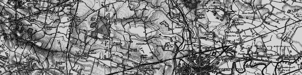 Old map of Kingswood in 1896