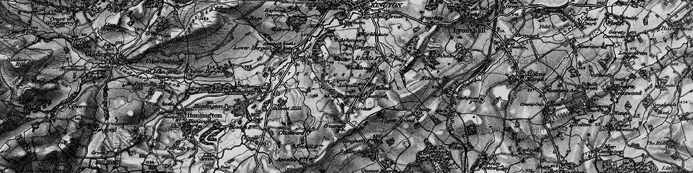 Old map of Woodbrook in 1899