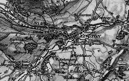 Old map of Ashmoor in 1899