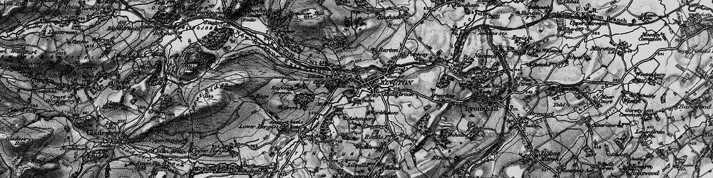 Old map of Kington in 1899