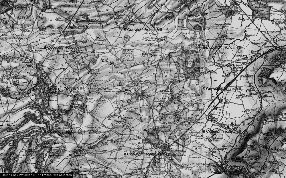 Old Map of Kington St Michael, 1898 in 1898