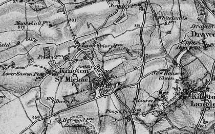 Old map of Kington St Michael in 1898