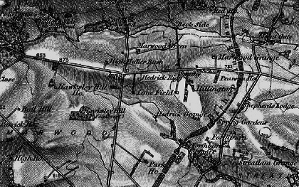 Old map of Langley Beck in 1897