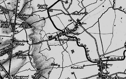 Old map of Woodlands in 1899