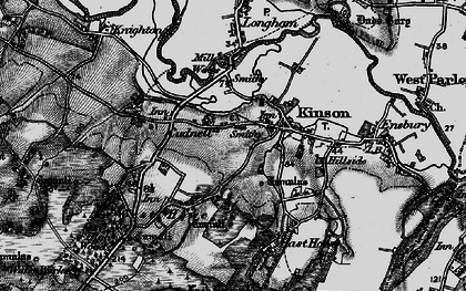 Old map of Kinson in 1895