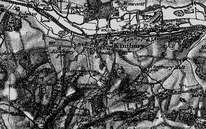 Old map of Kintbury in 1895