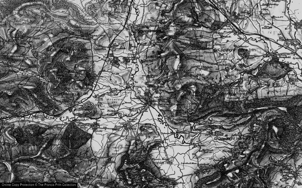 Old Map of Historic Map covering Leintwardine Manor in 1899