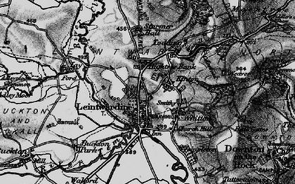 Old map of Leintwardine Manor in 1899