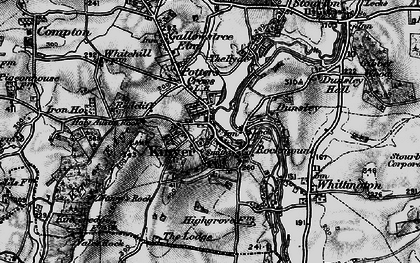 Old map of Kinver in 1899