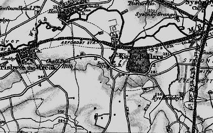 Old map of Kirby Bellars in 1899
