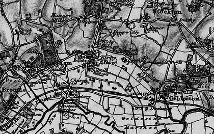 Old map of Leet Hill in 1898