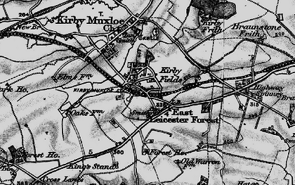 old map of kirby fields in 1899
