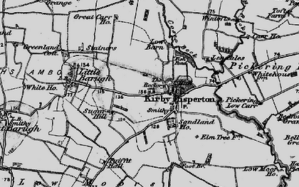 Old map of Barker Stakes in 1898