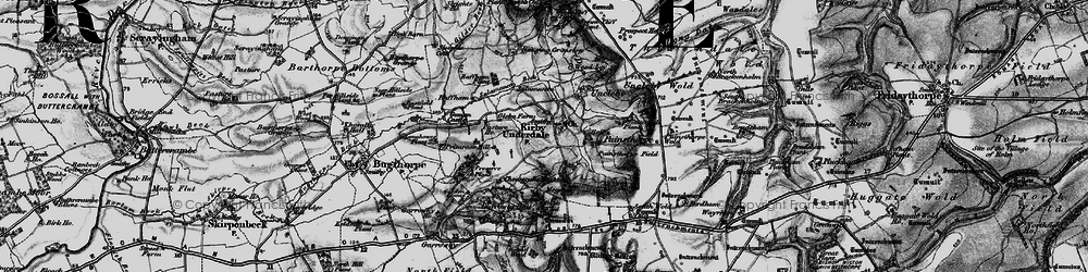 Old map of White Scar Plantn in 1898