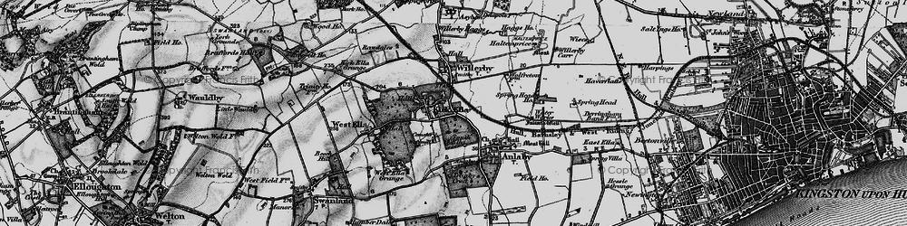 Old map of Kirk Ella in 1895