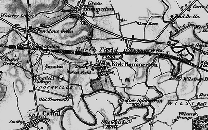 Old map of Kirk Hammerton in 1898