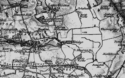 Old map of Langthorn Wood in 1897