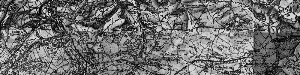 Old map of Kirkburton in 1896