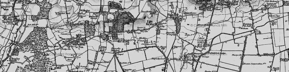 Old map of Whaiff Ho in 1899
