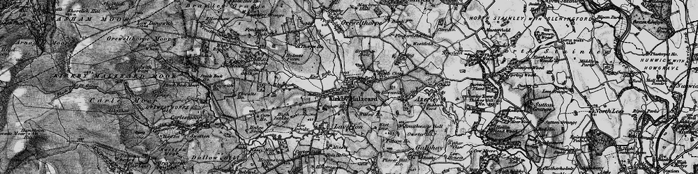 Old map of Kirkby Malzeard in 1897