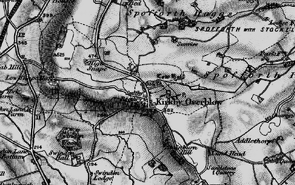 Old map of Kirkby Overblow in 1898