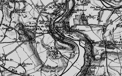 Old map of Kirkham in 1898