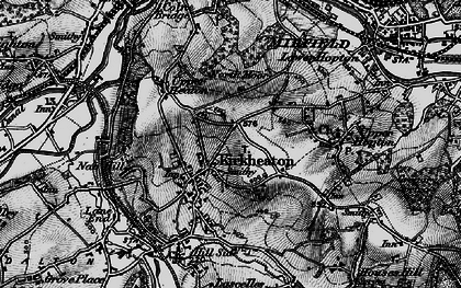 Old map of Kirkheaton in 1896