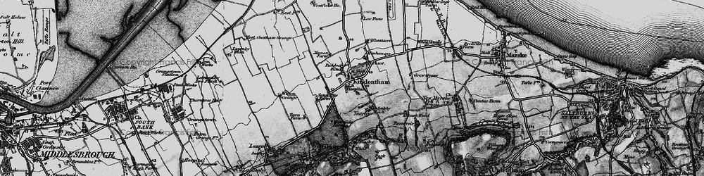 Old map of Yearby Wood in 1898