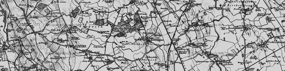Old map of Kirklington in 1898