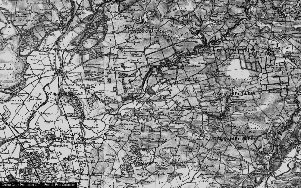 Old Map of Historic Map covering Woodhead in 1897